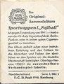 "Serie 3, Bild 5: Rückseite Sammelbild; Sport-Wappen 1 ""Fußball""; Garbaty, Zigarettenfabrik, Berlin"