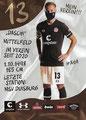 Lukas Daschner; Rückseite Autogrammkarte: Saison 2020/21 (2. Bundesliga)