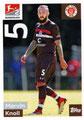 Sticker 292: Marvin Knoll; Fußball Bundesliga (Offizielle Sticker-Sammlung 2018/2019); Topps