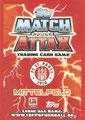 Trading Card 434: Rückseite Trading Card; Match Attax Trading Card Game Bundesliga 2013/2014; Topps