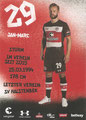 Jan-Marc Schneider; Rückseite Autogrammkarte: Saison 2017/18 (2. Bundesliga)