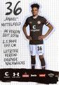 Luis Coordes; Rückseite Autogrammkarte: Saison 2019/20 (2. Bundesliga)