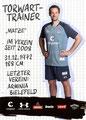 Mathias Hain; Rückseite Autogrammkarte: Saison 2019/20 (2. Bundesliga)