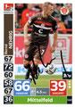 Trading Card 542 mit Orginalunterschrift: Bernd Nehrig (Kapitän); Topps Match Attax Action 2018/2019; Topps
