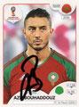 Sticker 158 mit Orginalunterschrift: Russia 2018 (Fifa World Cup); 670-Sticker-Edition (Belgien, Niederlanden, Luxemburg und Peru); Panini Bilderdienst, Tütenbilder