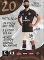 Finn Ole Becker; Rückseite Autogrammkarte: Saison 2020/21 (2. Bundesliga)