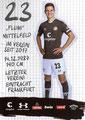 Johannes Flum; Rückseite Autogrammkarte: Saison 2019/20 (2. Bundesliga)