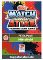 Trading Card 670: Rückseite Trading Card; Topps Match Attax Extra 2018/2019; Topps
