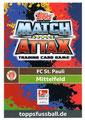 Trading Card 670: Rückseite Trading Card; Topps Match Attax Extra 2018/2019; Topps