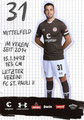 Ersin Zehir; Rückseite Autogrammkarte: Saison 2019/20 (2. Bundesliga)