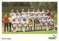 Mannschaftskarte 2 mit Orginalunterschriften: puma Werbekarte; Saison: 1987/88; Ligazugehörigkeit: 2. Bundesliga