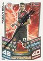 Trading Card 433 mit Orginalunterschrift: Fabian Boll; Match Attax Trading Card Game Bundesliga 2013/2014; Topps