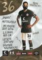 Luis Coordes; Rückseite Autogrammkarte: Saison 2020/21 (2. Bundesliga) Variante 2: Rückseite: Schriftzug oben rechts: Mein Verein 111