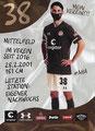 Leon Flach; Rückseite Autogrammkarte: Saison 2020/21 (2. Bundesliga)