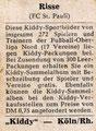 Ich suche folgende Sammelbilder dieser Serie: Alle Sammelbilder mit FC St. Pauli Bezug dieverse Rückseiten