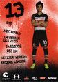 Ryo Miyaichi; Rückseite Autogrammkarte: Saison 2017/18 (2. Bundesliga)
