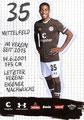 Aurel Loubongo-M'Boungou; Rückseite Autogrammkarte: Saison 2019/20 (2. Bundesliga)