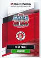 Trading Card 574: Rückseite Trading Card; Topps Match Attax Extra 2020/2021; Topps