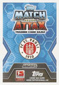 Trading Card 435: Rückseite Trading Card; Topps Match Attax Trading Card Game 2014/2015; Topps