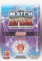 Trading Card 429: Rückseite Trading Card; Topps Match Attax 2015/2016; Topps