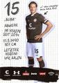 Daniel Buballa; Rückseite Autogrammkarte: Saison 2019/20 (2. Bundesliga)