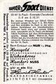 Serie III, Bild 49: Rückseite Sammelbild; Harmker 's Sport Dienst; Hamker, Margarinefabrik, Lintorf