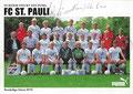Mannschaftskarte mit Orginalunterschriften: puma Werbekarte; Saison: 1989/90; Ligazugehörigkeit: 1. Bundesliga