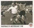 Sticker 137: Halbfinale DT. Meisterschaft 1948; Sportliche Geschichte; St. Pauli Sammeln! Panini Bilderdienst, Stuttgart