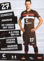 Jan-Philipp Kalla; Rückseite Autogrammkarte: Saison 2018/19 (2. Bundesliga)