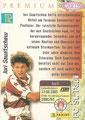 Trading Card 112: Rückseite Trading Card; Panini Premium Cards 95/96; Panini Bilderdienst, Nettetal, Kaldenkirchen