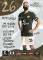 Rico Benatelli; Rückseite Autogrammkarte: Saison 2020/21 (2. Bundesliga) Variante 2: Rückseite: Schriftzug oben rechts: Mein Verein 111