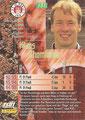 Trading Card 131: Rückseite Trading Card; Bundesliga Cards '96 ran Sat 1 Fußball; Panini Bilderdienst, Nettetal, Kaldenkirchen