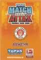 Rückseite einer Trading Card dieser Serie: Variante Abwehr; Match Attax Traiding Card Game 2010/2011; Topps