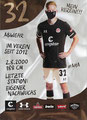 Jannes Wieckhoff; Rückseite Autogrammkarte: Saison 2020/21 (2. Bundesliga)