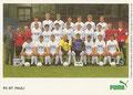 Mannschaftskarte mit Orginalunterschriften 2: puma Werbekarte; Saison: 1988/89; Ligazugehörigkeit: 1. Bundesliga