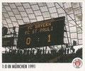 Sticker 144: 1:0 in München 1991; Sportliche Geschichte; St. Pauli Sammeln! Panini Bilderdienst, Stuttgart