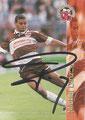 Trading Card 139 mit Orginalunterschrift: Michel Dinzey; Bundesliga Cards '96 ran Sat 1 Fußbal; Panini Bilderdienst, Nettetal, Kaldenkirchen