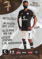 Kevin Lankford; Rückseite Autogrammkarte: Saison 2020/21 (2. Bundesliga)