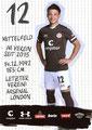 Ryo Miyaichi; Rückseite Autogrammkarte: Saison 2019/20 (2. Bundesliga)