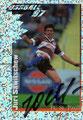 Glitzer Sticker 395 mit Orginalunterschrift: Fußball' 97; Panini Bilderdienst, Nettetal, Kaldenkirchen