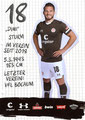 Dimitrios Diamantakos; Rückseite Autogrammkarte: Saison 2019/20 (2. Bundesliga)