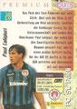 Trading Card 28: Rückseite Trading Card; Panini Premium Cards 95/96; Panini Bilderdienst, Nettetal, Kaldenkirchen