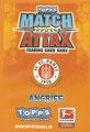 Rückseite einer Trading Carddieser Serie: Variante Angriff; Match Attax Traiding Card Game 2010/2011; Topps