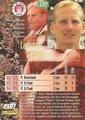 Trading Card 137: Rückseite Trading Card; Bundesliga Cards '96 ran Sat 1 Fußball; Panini Bilderdienst, Nettetal, Kaldenkirchen