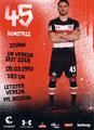 Dimitrias Diamantakos; Rückseite Autogrammkarte: Saison 2017/18 (2. Bundesliga)