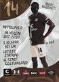 Afeez Aremu; Rückseite Autogrammkarte: Saison 2020/21 (2. Bundesliga)