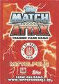 Trading Card 571: Rückseite Trading Card; Match Attax Extra Bundesliga 2013/2014; Topps