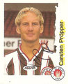 Sticker 195 mit Orginalunterschrift: Fußball Bundesliga (Die Endphase der Saison 96/97); Panini Bilderdienst, Nettetal, Kaldenkirchen