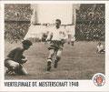 Sticker 136: Viertelfinale DT. Meisterschaft 1948; Sportliche Geschichte; St. Pauli Sammeln! Panini Bilderdienst, Stuttgart