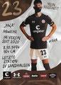 Leart Paqarada; Rückseite Autogrammkarte: Saison 2020/21 (2. Bundesliga)